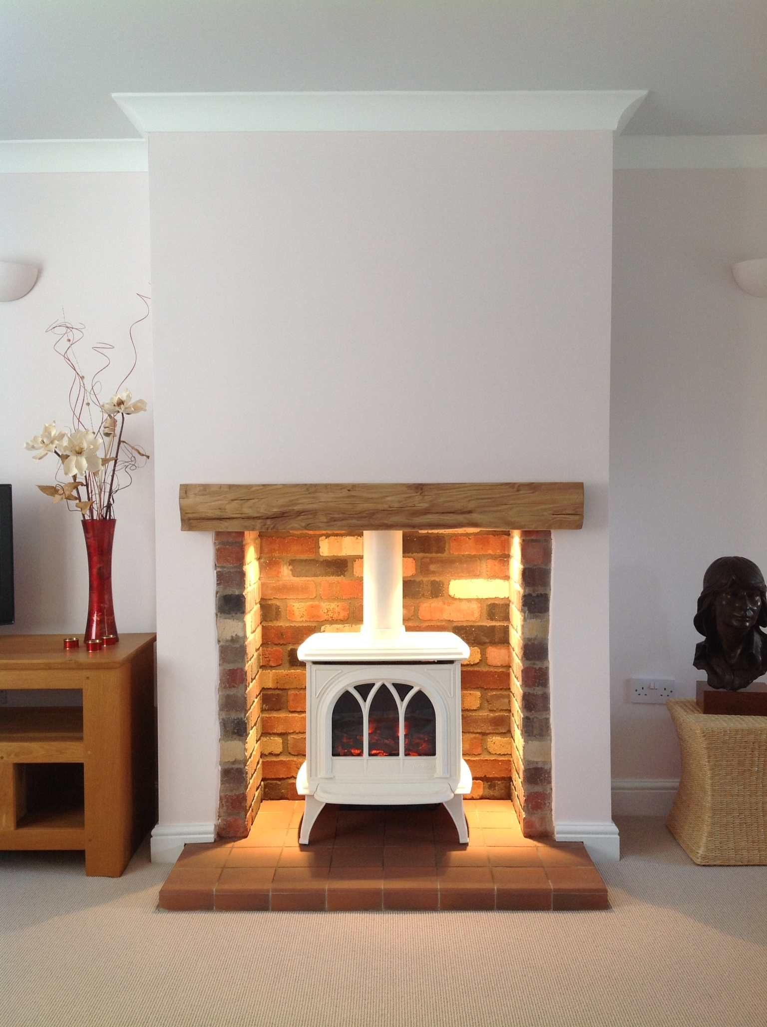 huntington electric enamelled stove