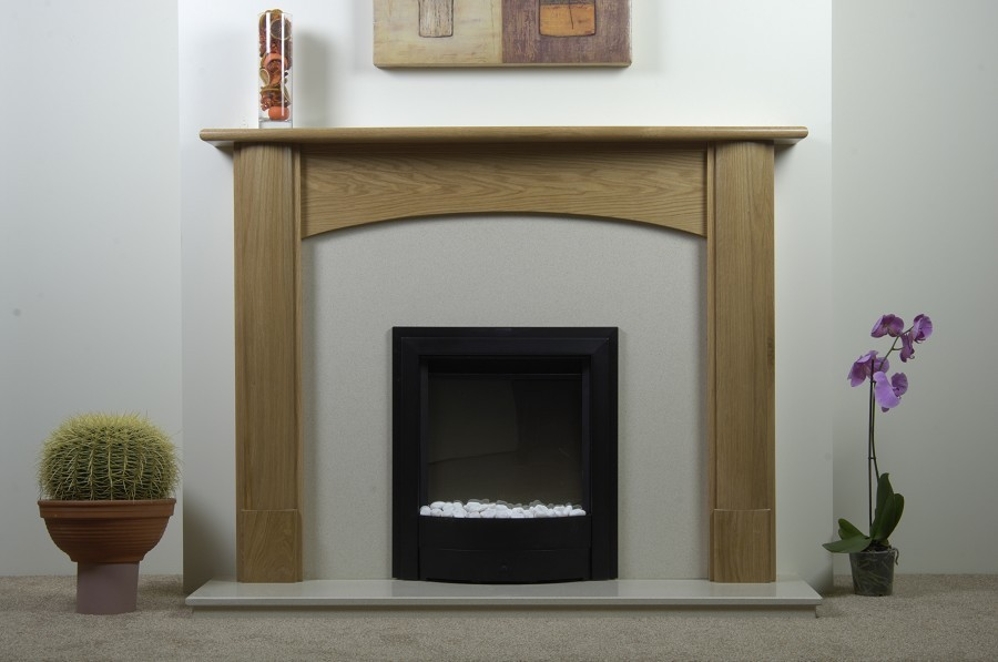 Withington Natural Solid Oak Fireplace
